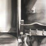 Slashas & kitchen sofa, 70x100cm, ink on paper
