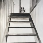 Slashas & stairs, 70x100cm, ink on paper